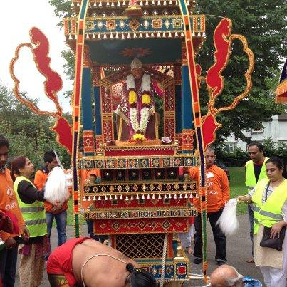 Beautiful Sai Baba Idol at Palkhi Yatra at London